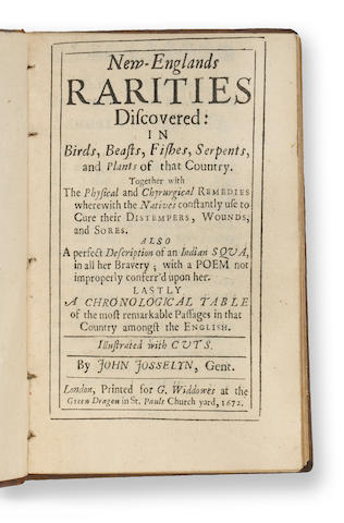 15'672'672£osselyn, John§ew-England Rarities Discovered¥ondon'000...20$16,800 ¥aird Park'86