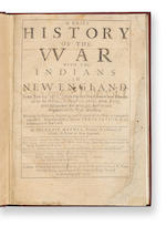 MATHER, INCREASE. 1639-1723. A Brief History of the War with the Indians in New-England. London: Richard Chiswell, 1676.