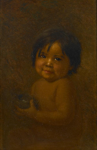 Grace Carpenter Hudson (American, 1865-1937) Ellen Duncan (as a baby), 1925 16 x 10in