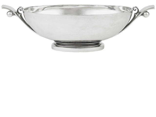 Danish Sterling Centerpiece Designed by Harald Nielsen for Georg Jensen
