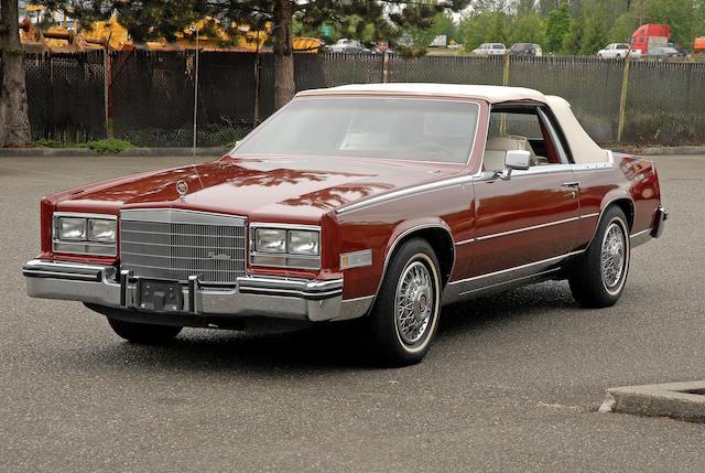 1984 Cadillac Eldorado Biarritz  Chassis no. 1G6AL6780EE660353