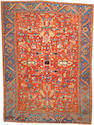 A Heriz carpet Size approximately 8ft. 6in. x 11ft. 7in.