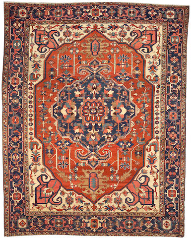 A Serapi carpet size approximately 8ft. 10in. x 11ft. 4in.