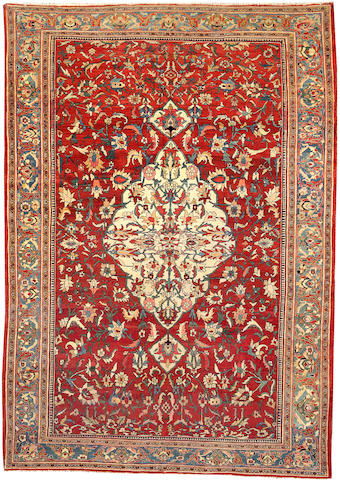 A Fereghan carpet Size approximately 6ft. 11in. x 9ft. 10in.