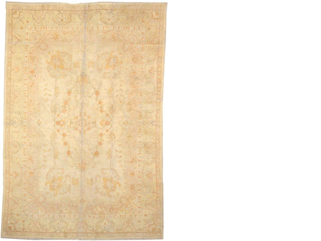 An Oushak carpet Size approximately 7ft. 10in. x 11ft. 7in.
