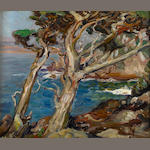 Paul Dougherty (American, 1877-1947) Point Lobos 15 x 18in