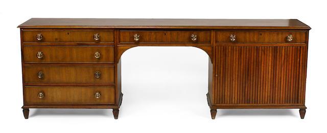 A Regency style mahogany writing desk