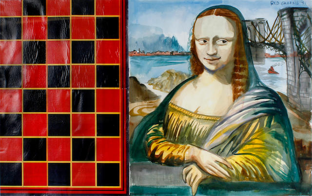 (n/a) Red Grooms (American, born 1937) Mona Lisa, 1991 25 1/8 x 40in