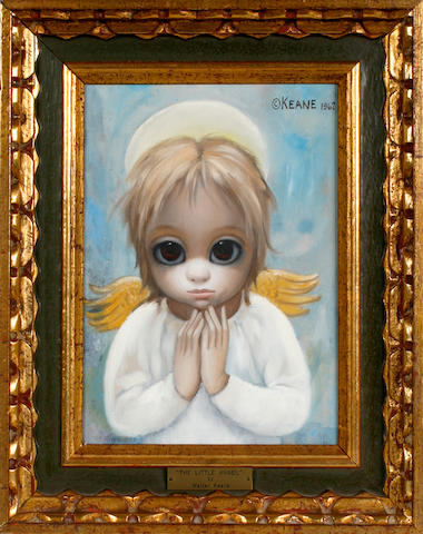 Ford Ruthling (American, born 1933), Margaret D.H. Keane  (American, born 1927), Walter Keane (American, 1915-2000) Chrysanthemums on pink paper, 1965; Noel, 1962; The Little Angel, 1962 (3)  first 12 x 16in; second 11 3/4 x 7in; third 12 x 8 1/2in