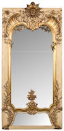 A Swedish Rococo style parcel gilt paint decorated mirror 19th century