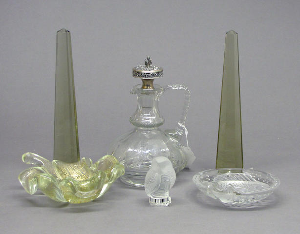 Six pieces of European glass late 19th/20th century