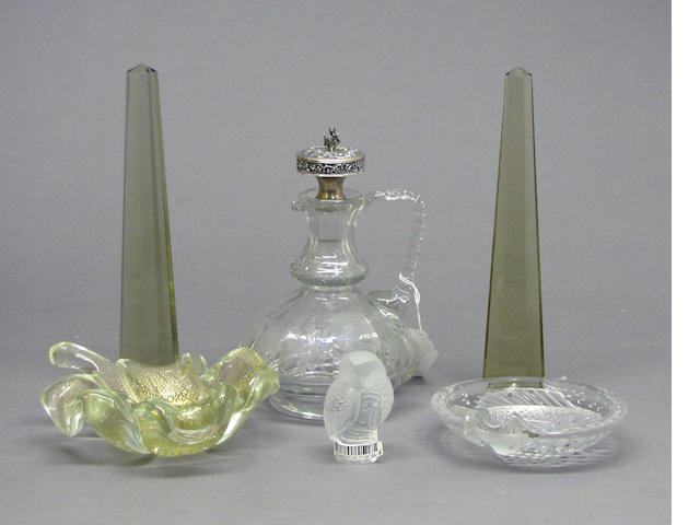 Six pieces of European glass [second half 19th/20th century]