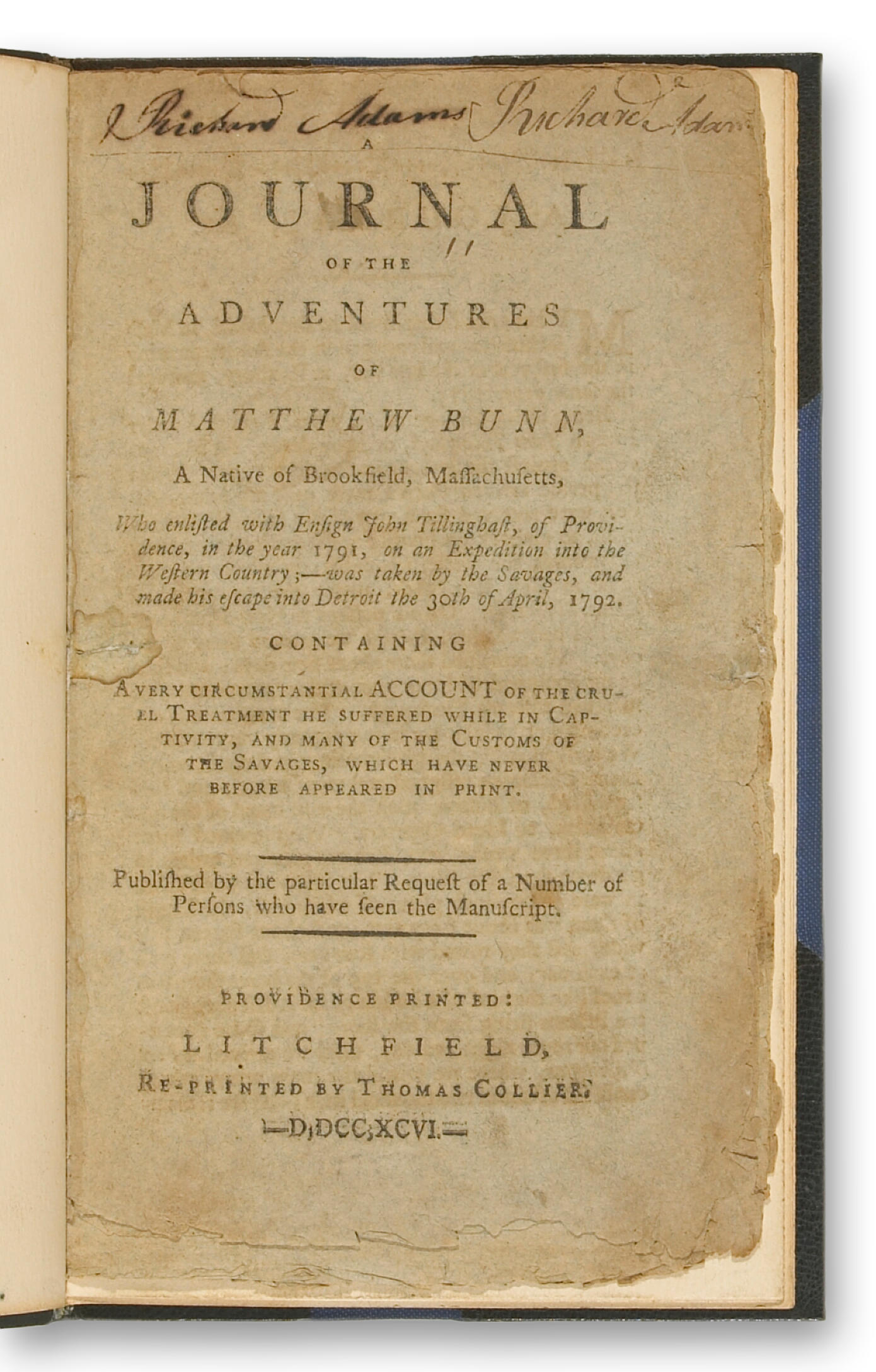 BUNN, MATTHEW. b.1772.