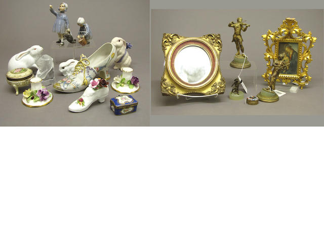 An assembled grouping of European glass 20th century