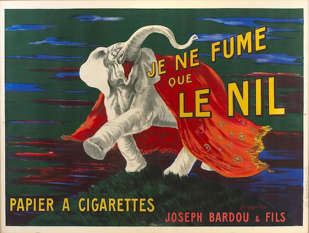 Leonetto  Cappiello (Italian, 1875-1942); Je ne fume que le nil;