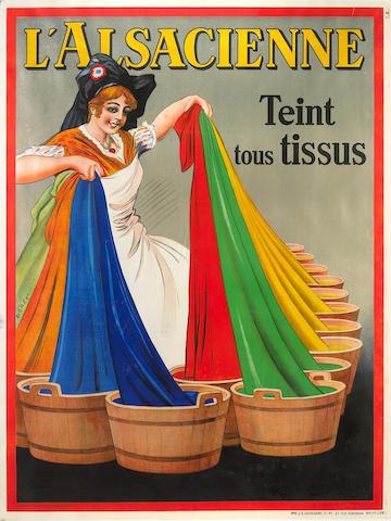 Albert Dorfinant (French, 1881-1976); L'Alsacienne teint tous tissus;