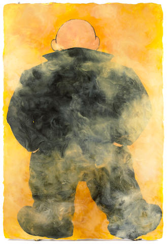 (n/a) Chuck Agro (American, b. 1955) Almost a Handsome Man, 1992 72 x 49in unframed