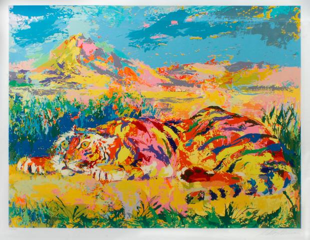 LeRoy Neiman (American, born 1926); Delacroix's Tiger;