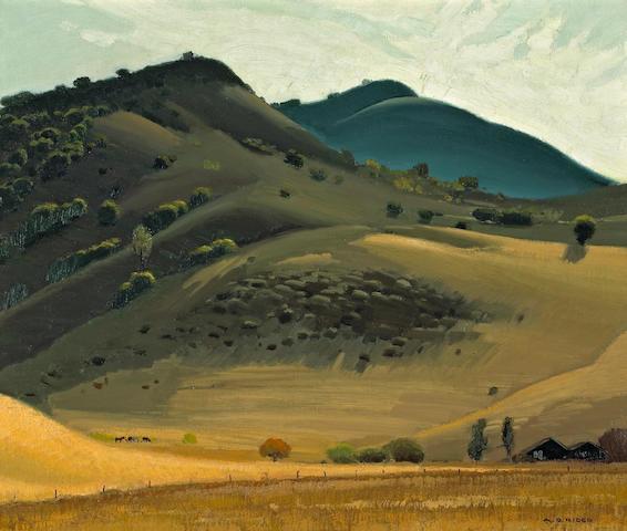 Arthur Grover Rider (American, 1886-1975) Calabasas Valley 20 x 24in