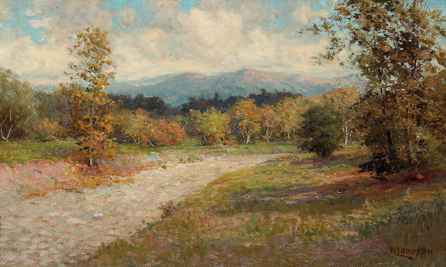 (n/a) William Lees Judson (American, 1842-1928) In the foothills in fall 15 x 25in