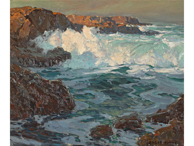 Edgar Payne (1883-1947) Surging sea 20 x 24in