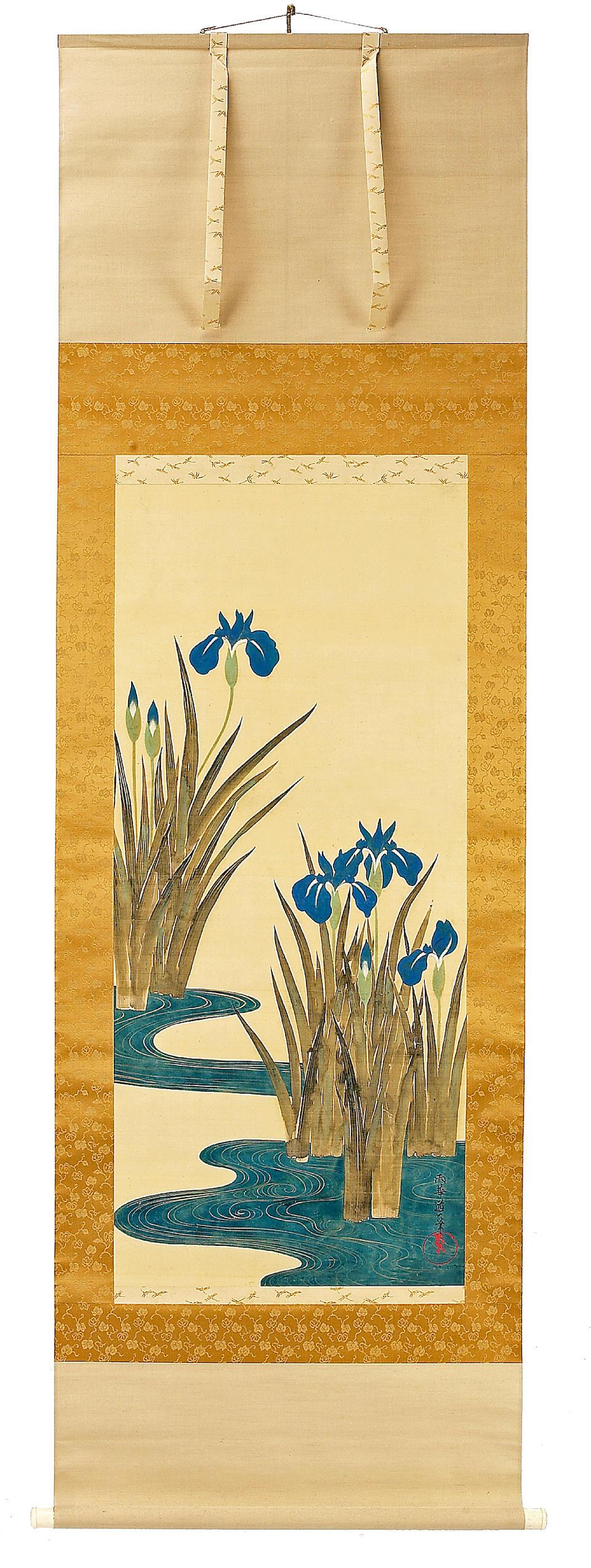 SAKAI DOITSU (1845-1913) IRISES
