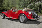 The ex-Lee Majors,1953 MG TD Four-Seater  Chassis no. TD26606 Engine no. XPAG/TD2/27186