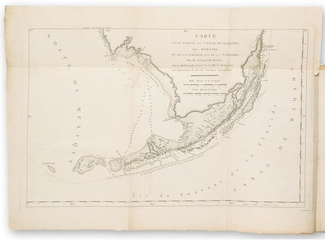 100'771...9de Brahm, W. Gerald«echerches Faites par Ordre de sa Majeste Britannique, depuis 1765 jusqu'en 1771 pour rectifier les cartes & perfectionner la Navigation du Canal de Bahama...5b1771]'994...20$5,800 «ichard Lan