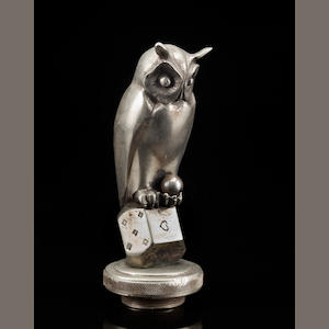 A 'Wise Owl' mascot by Marcel Bouraine, 1920s,