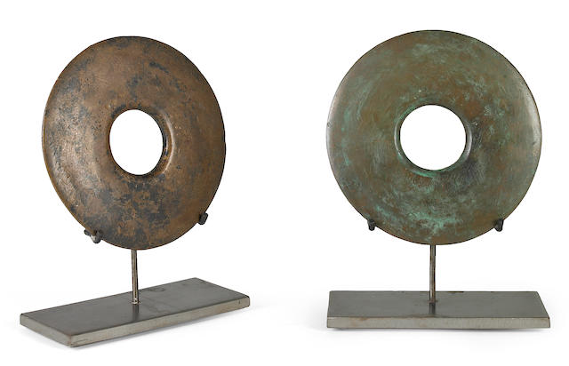 (n/a) Win Knowlton (American, born 1953) Untitled (two parts) each 11 3/4 x 9 x 4in
