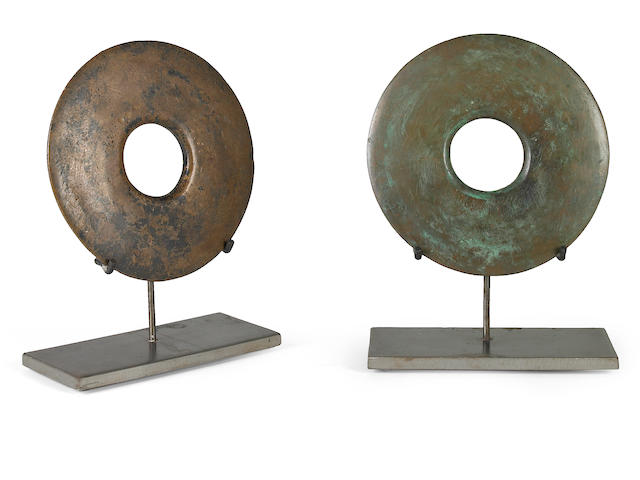 Win Knowlton (American, born 1953) Untitled (two parts) each 11 3/4 x 9 x 4in