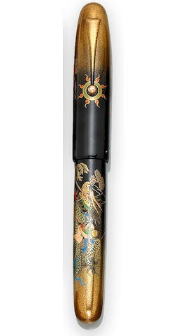 NAMIKI: Double Dragon Emperor Maki-e Fountain Pen