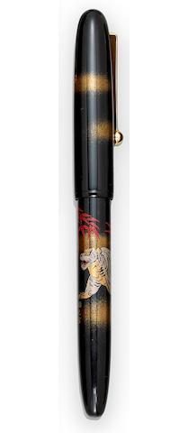 NAMIKI: Maki-e White Tiger Fountain Pen