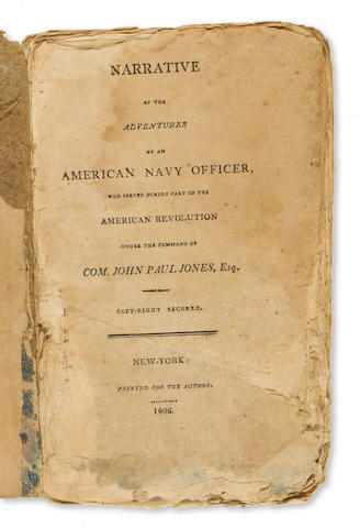 157	1806	1806	[Fanning, Nathaniel]	Narrative of the Adventures of an American Navy Officer, who served during part of the American Revolution ...	New York	2001	 $8,800 	WR, 39831