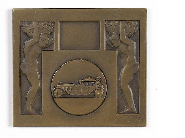 A bronze plaque of the A.C.A. Concourse D'Elegance at Antibes 1929,
