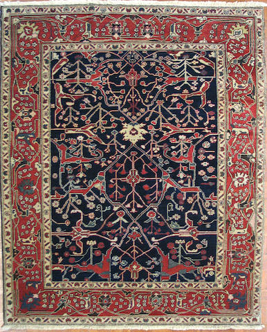 A Chinese carpet size approximately 6ft. 9in.