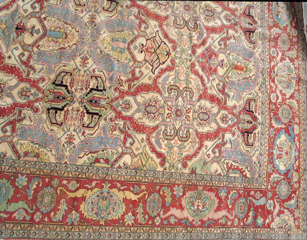 A Heriz design carpet size approximately