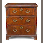 A George I/II walnut bachelor's chest