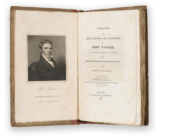 225'830'830£ames, Edmin, M.D.§arrative of the Captivity and Adventures of John Tanner during Thi
