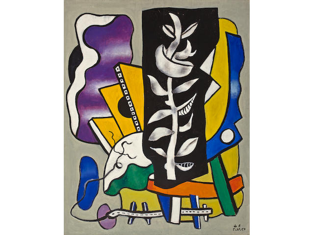 (n/a) Fernand Léger  (French, 1881-1955) La branche sur fond noir, 1948 36 1/4 x 28 3/4in (92 x 73cm)