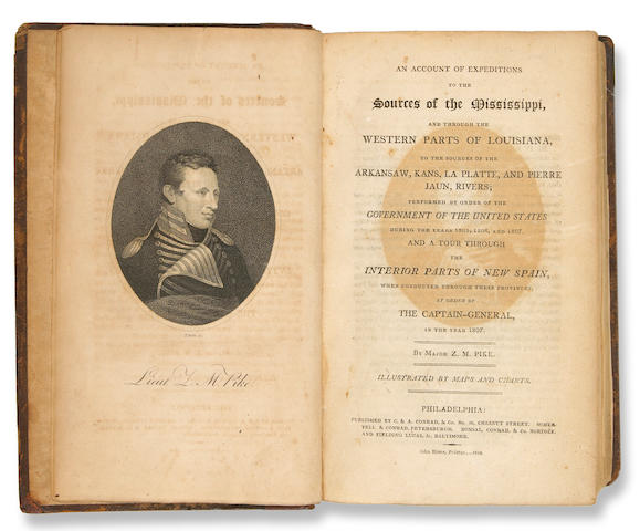 167	1810	1810	Pike, Zebulon Montgomery	An Account of Expeditions to the Sources of the Mississippi...	Philadelphia	2000	 $19,150 	Laird Park	Lot 288