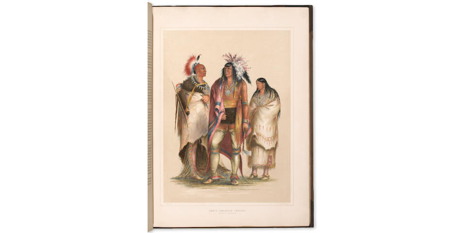 CATLIN, GEORGE. 1796-1872. Catlin's North American Indian Portfolio. Hunting Scenes and Amusements of the Rocky Mountains and Praries of America. London: Geo. Catlin, 1844.