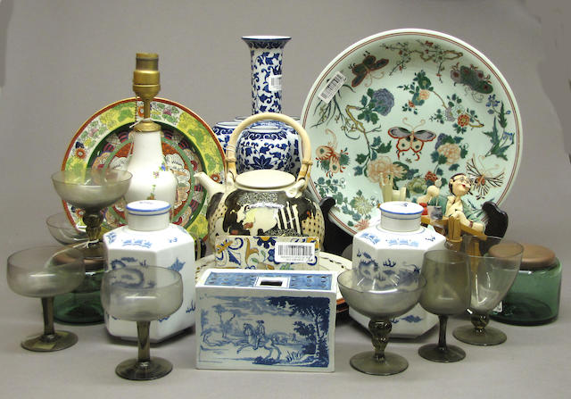 miscellaneous grouping of ceramics