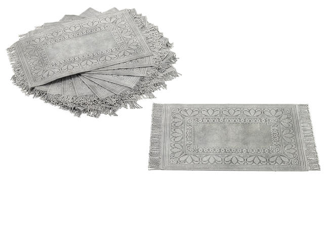 Portuguese sterling set of fourteen woven wirework mesh place mats