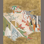 Tosa School (Edo Period)<br>Scenes from the Tale of Genji