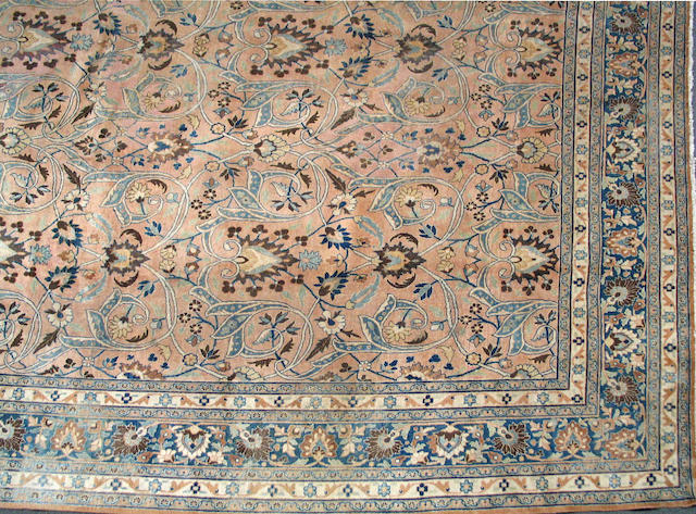 A Meshed carpet size approximately 10ft. 5in. x 12ft. 5in.