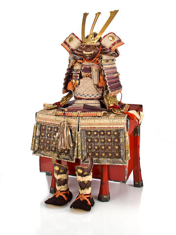 A miniature armor By Heian Hiromitsu, early 20th century