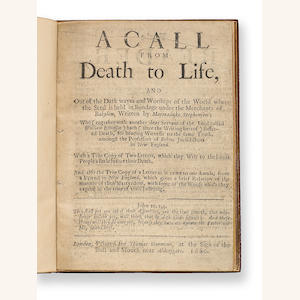 STEPHENSON A Call from Death to Life, and Out of the Dark... London, 1660.