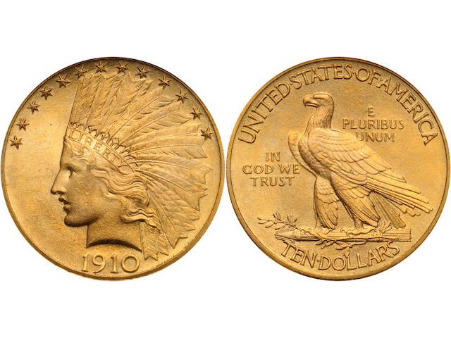 1910 $10 MS67 NGC