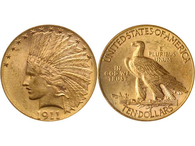 1911-D $10 MS62 PCGS
